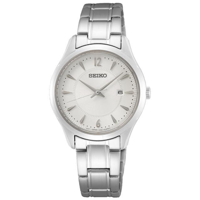 【SEIKO 精工】都會簡約大三針時尚女錶-銀/29.9mm(SUR423P1/6N22-00N0S)