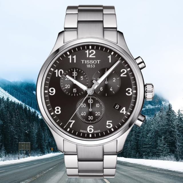 【TISSOT 天梭】CHRONO XL 韻馳系列 三眼計時腕錶 / 45mm(T1166171105701)