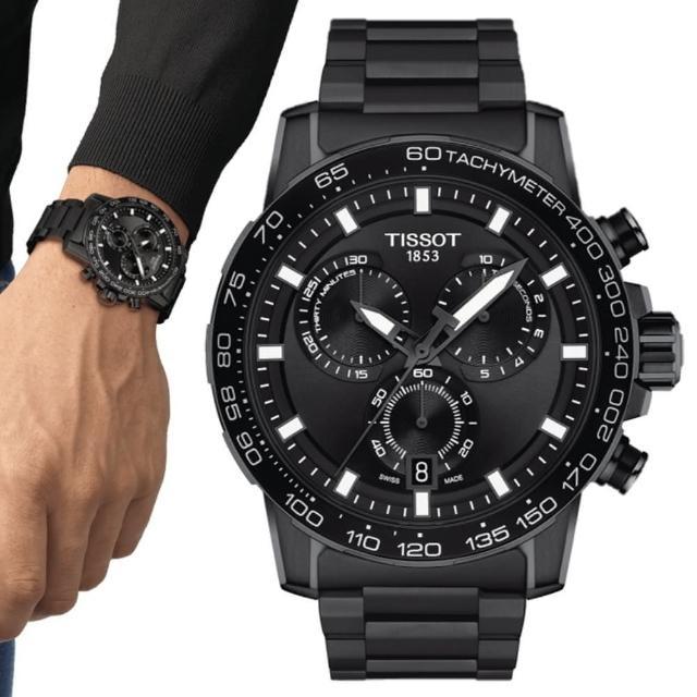 【TISSOT 天梭】SUPERSPORT CHRONO 三眼計時腕錶 / 45.5mm(T1256173305100)