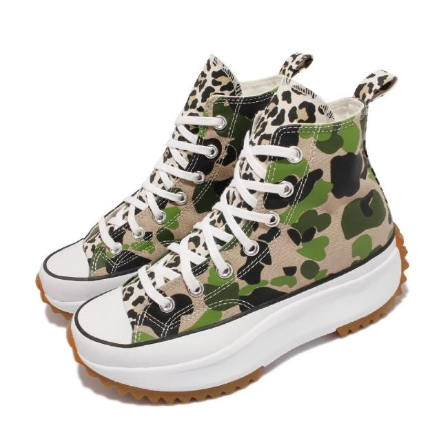 【CONVERSE】休閒鞋 Run Star Hike 運動 男女鞋 厚底 舒適 增高 帆布 迷彩 情侶穿搭 綠(170913C)