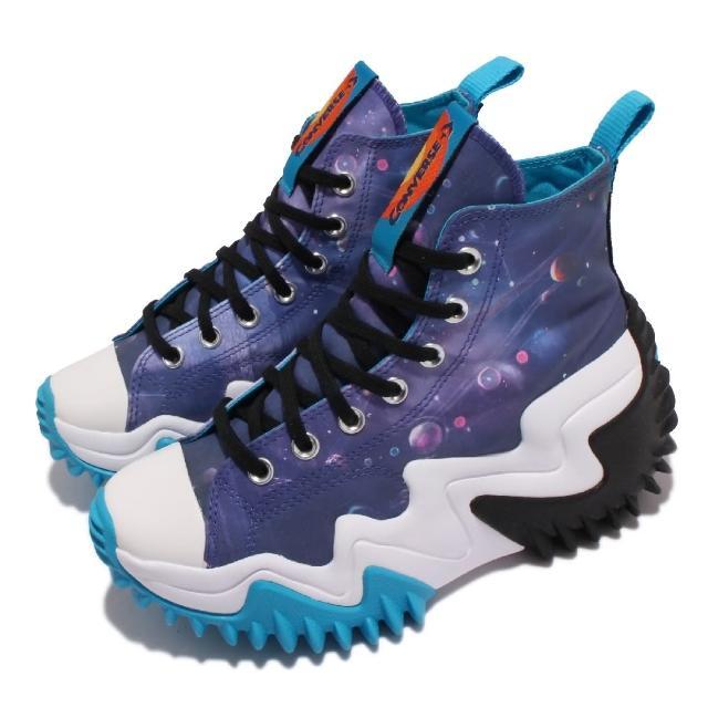 【CONVERSE】休閒鞋 Run Star Motion 增高 女鞋 大波浪 厚底 怪物奇兵 休閒穿搭 藍 白(172488C)