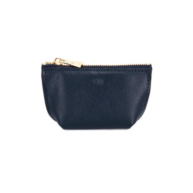 【J II】零錢包-輕巧牛皮零錢包-深藍色-3101-3(零錢包)