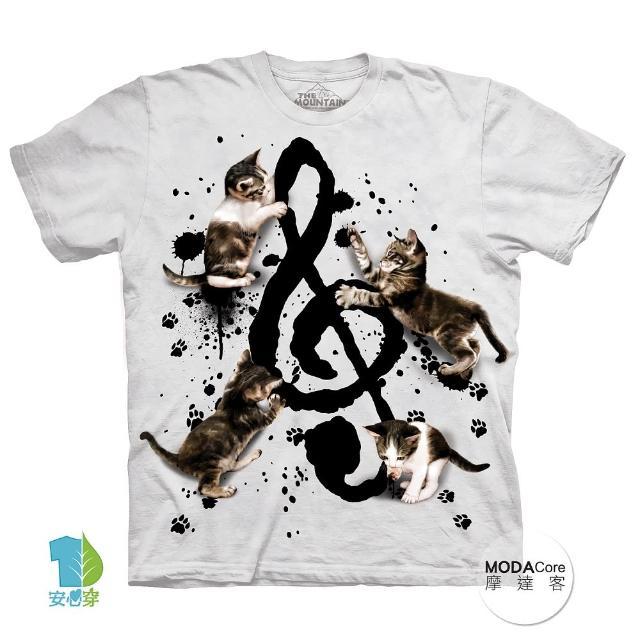 【摩達客】美國進口The Mountain 貓與音符 純棉環保短袖T恤(現貨 大尺碼4、5XL)