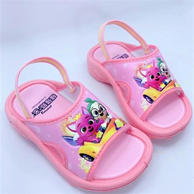 【樂樂童鞋】台灣製碰碰狐拖鞋-粉色-P065(拖鞋 涼鞋 室內鞋 女童鞋 男童鞋 台灣製)