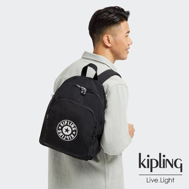 【KIPLING】寧靜深邃黑簡約手提後背包-CURTIS M