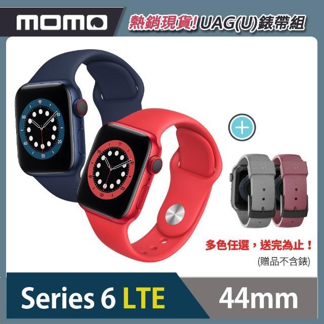 UAG(U)錶帶組【Apple 蘋果】Apple Watch Series6(S6) LTE 44mm 鋁金屬錶殼搭配運動錶帶