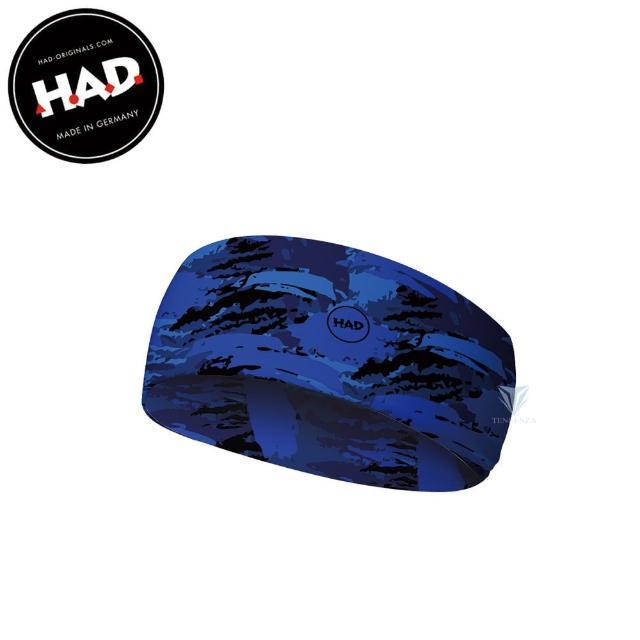 【德國 HAD】HA651 抗UV舒適頭帶Coolmax - 藍色生存(吸濕排汗頭帶/抗UV/Coolmax)
