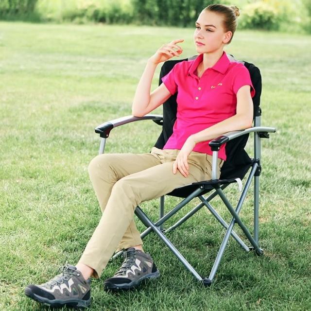 【古德斯】豪華扶手折疊椅+收納袋_KC3987(KingCamp/摺疊椅/露營椅)