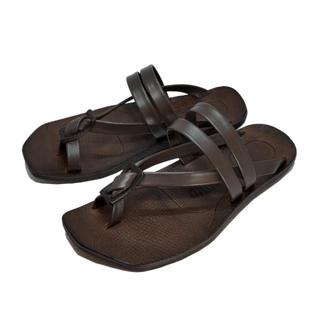 【皮克米】特軟小牛皮 平底夾腳涼鞋(涼拖兩穿)