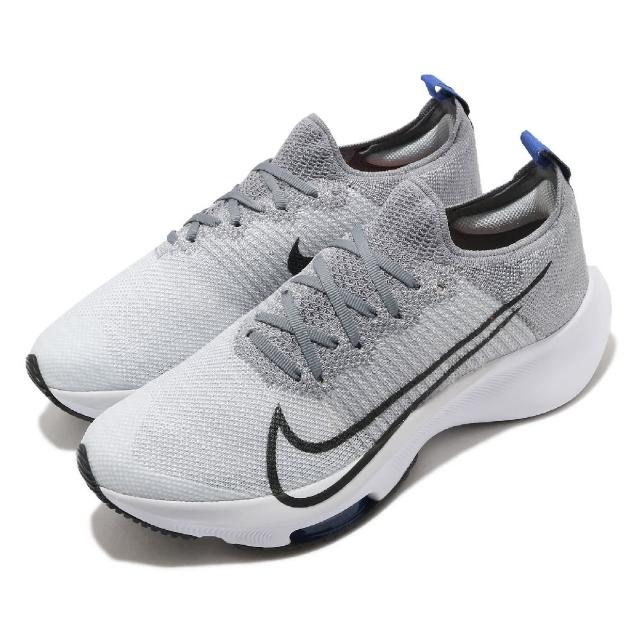 【NIKE 耐吉】慢跑鞋 Zoom Turbo FK 運動 女鞋 氣墊 避震 舒適 路跑 健身 大童 灰 白(CJ2102-002)