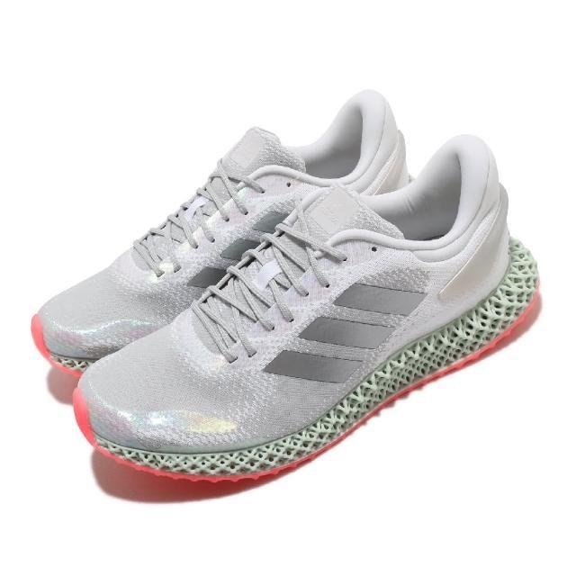【adidas 愛迪達】慢跑鞋 4D Run 1.0 運動 男鞋 愛迪達 3D列印 高避震 緩衝 路跑 銀 灰(FV6960)