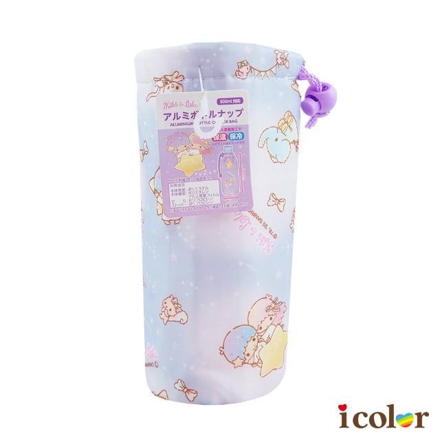 【i color】三麗鷗 好友雙子星500ml保冷 溫水壺袋