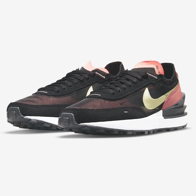 【NIKE 耐吉】慢跑鞋 女鞋 運動鞋 W WAFFLE ONE 黑紅 DC2533-002