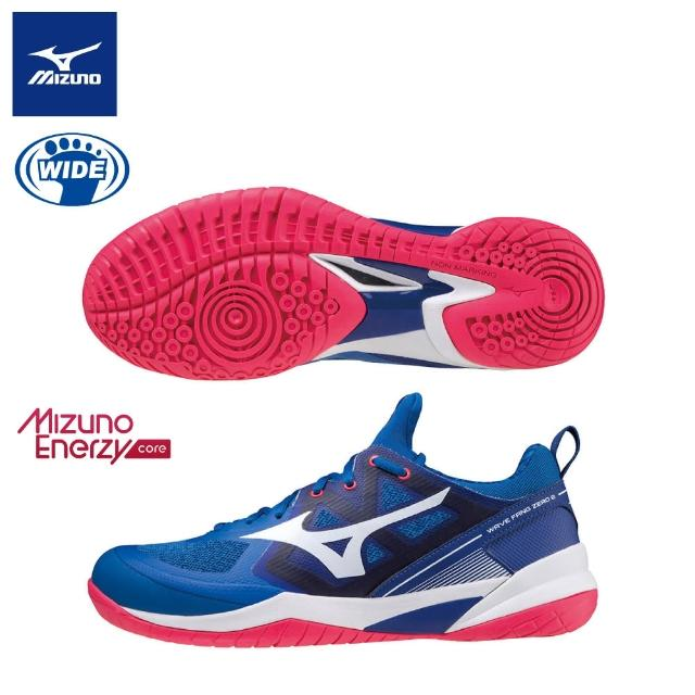 【MIZUNO 美津濃】WAVE FANG ZERO 2 寬楦羽球鞋 71GA219022(羽球鞋)