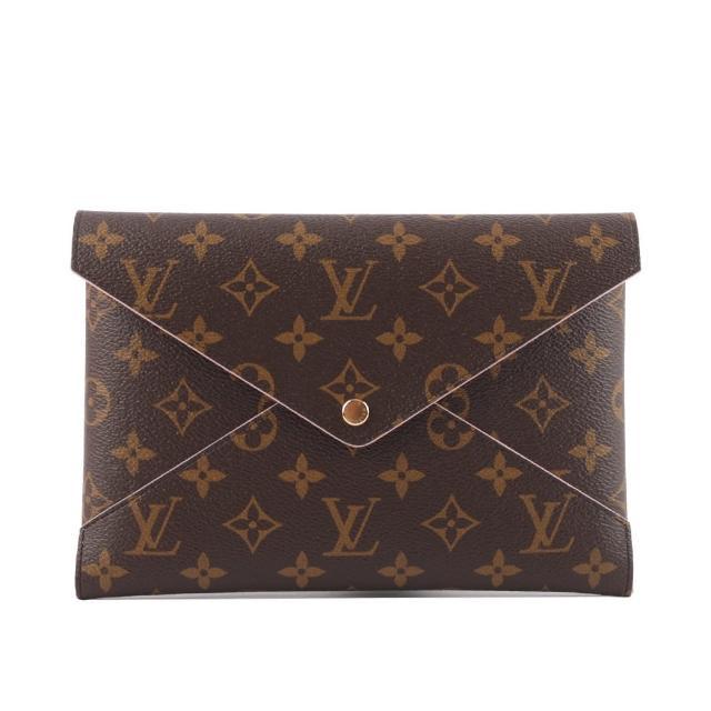 【Louis Vuitton 路易威登】Monogram KIRIGAMI 手拿包_展示品(棕色)