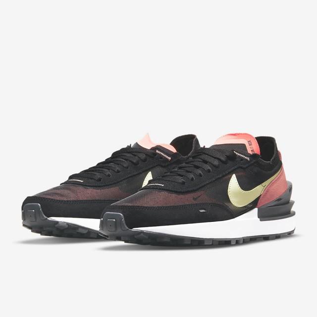 【NIKE 耐吉】休閒鞋 W NIKE WAFFLE ONE 女鞋 黑粉(DC2533002)