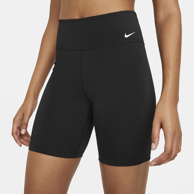 【NIKE 耐吉】短褲 女款 運動緊身短褲 瑜珈 慢跑 訓練 AS W NK ONE DF MR 7IN SHRT 黑 DD0244-010