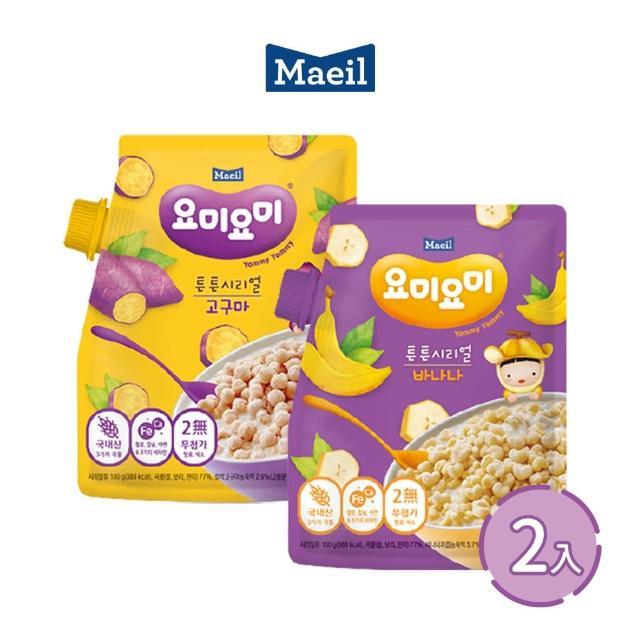 【韓國每日Maeil】穀物脆營養麥片2入組合包(12個月以上幼兒適吃 100%來自大自然的健康零食)