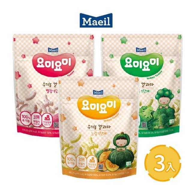 【韓國每日Maeil】米條3入組合包(7個月以上幼兒適吃 100%無添加 來自大自然的健康零食)