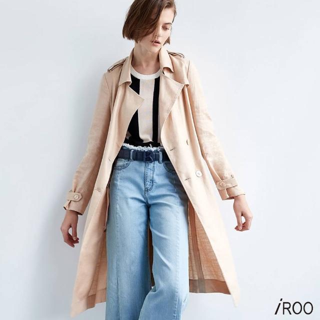 【iROO】棉麻感 風衣