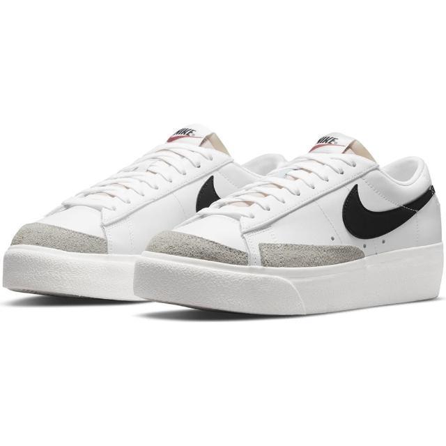 【NIKE 耐吉】休閒鞋 女鞋 運動鞋 厚底 麂皮 W BLAZER LOW PLATFORM 奶油白 DJ0292-101