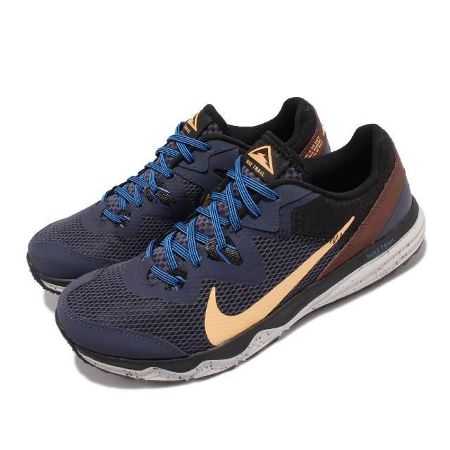 【NIKE 耐吉】慢跑鞋 Juniper Trail 運動 男鞋 戶外 越野 Flywire包覆 避震 藍 棕(CW3808-401)