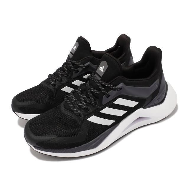 【adidas 愛迪達】慢跑鞋 Alphatorsion 2.0 運動 男鞋 愛迪達 輕量 透氣 舒適 避震 路跑 黑 白(GZ8738)