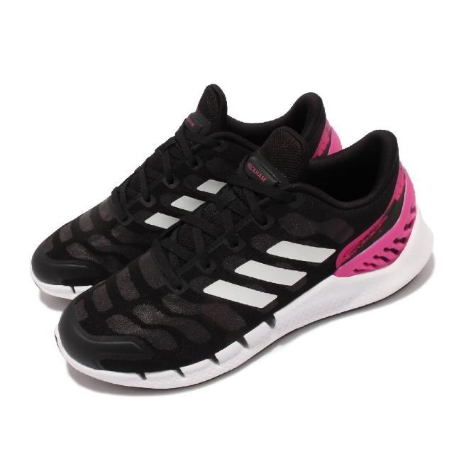 【adidas 愛迪達】慢跑鞋 Climacool Ventania 男女鞋 愛迪達 貝克漢 聯名 運動 避震 情侶款 黑粉(GX7989)