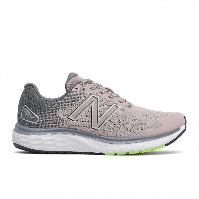 【NEW BALANCE】NB 慢跑鞋 女鞋 運動鞋 緩震 粉灰 W680LR7-D楦