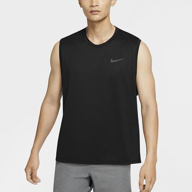 【NIKE 耐吉】背心 男款 運動背心 慢跑 球衣 訓練 AS M NP DF HPR DRY TOP TANK 黑 CZ1185-10