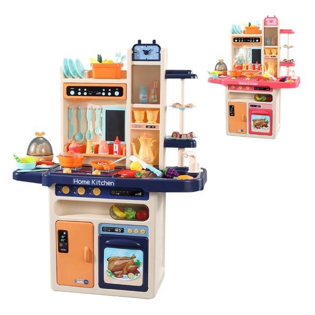 【JoyNa】大型廚房玩具組 蒸蛋器(燈光音效.水循環.噴霧)