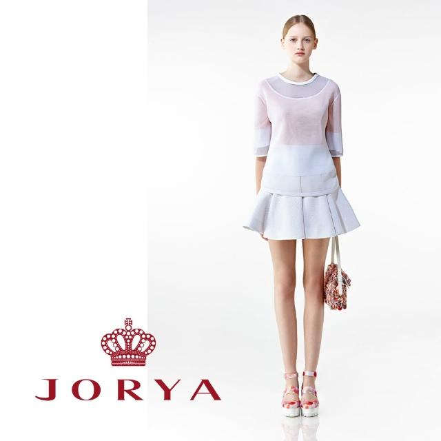 【JORYA】weekendH2000602網狀透膚設計五分袖上衣