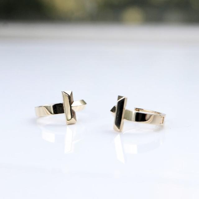 【CHARIS & GRACE 佳立思珠寶】14K T型耳扣耳環