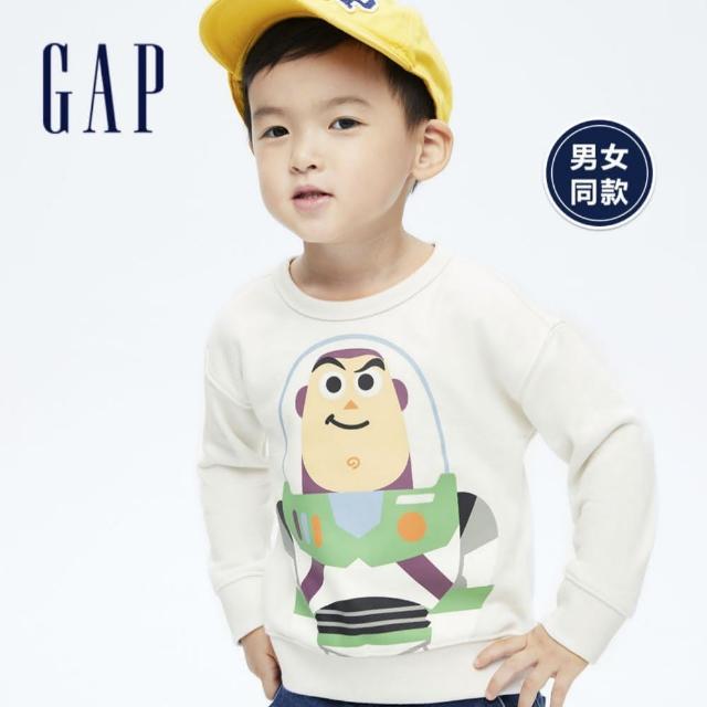 【GAP】男幼童 Gap x Disney 迪士尼系列印花休閒上衣(734931-灰白色)