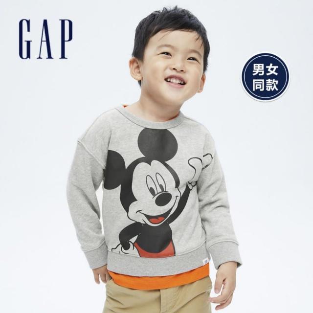 【GAP】男幼童 Gap x Disney 迪士尼系列印花休閒上衣(734931-灰色)