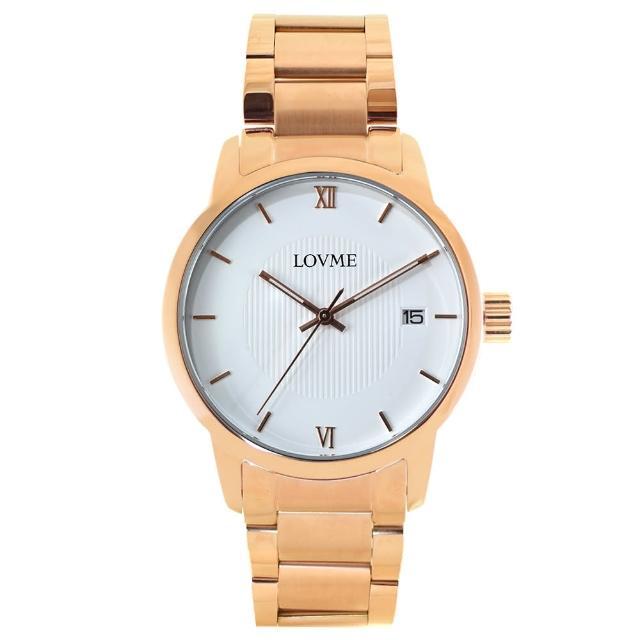 【LOVME】072紳士質感不鏽鋼日期手錶(VS0072M-44-241)