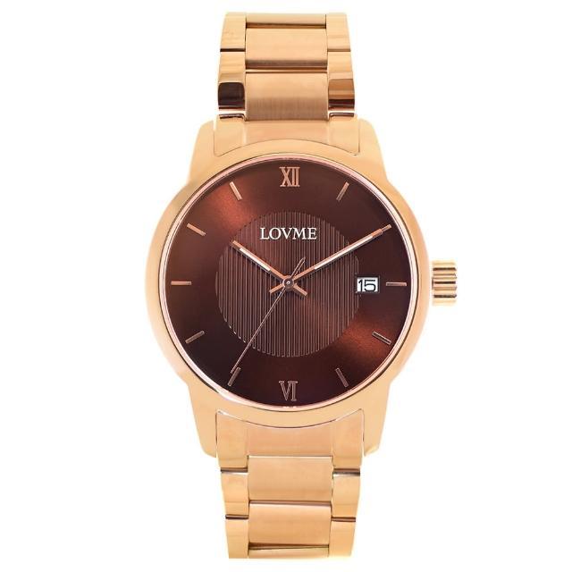 【LOVME】072紳士質感不鏽鋼日期手錶(VS0072M-44-B41)