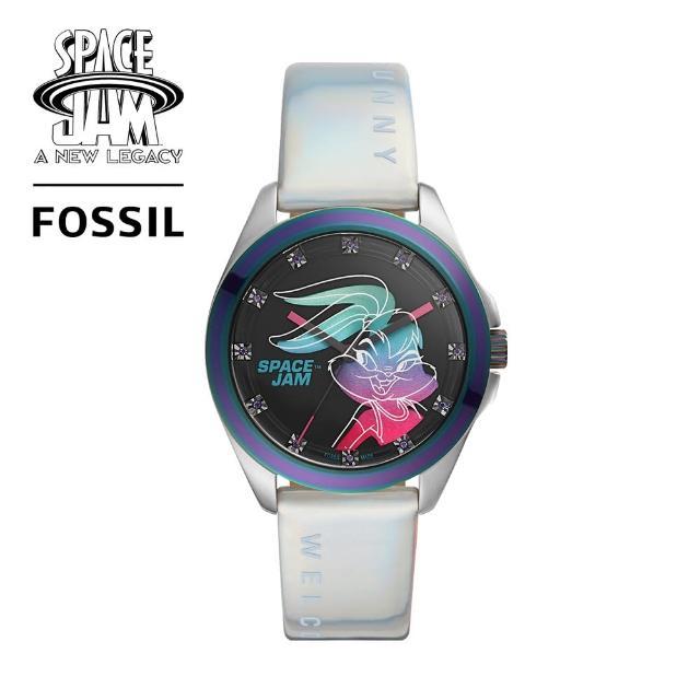 【FOSSIL】Space Jam 怪物奇兵 Lola 限量套錶組 白色矽膠錶帶 36MM LE1127SET