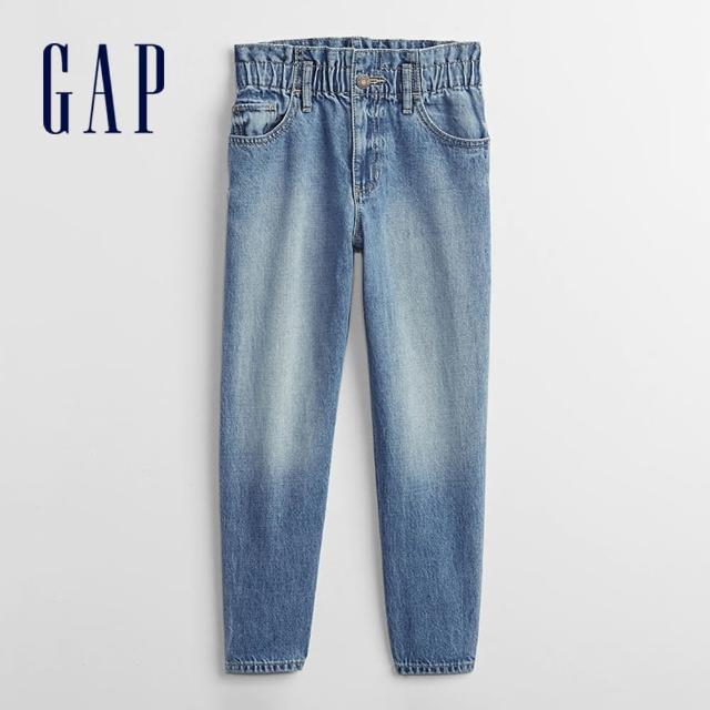 【GAP】女童 純棉可脫卸腰帶牛仔褲(696695-中度水洗)