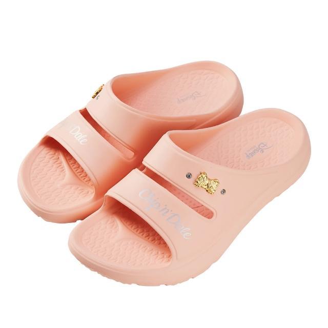 【Disney 迪士尼】迪士尼女鞋 奇奇蒂蒂 運動風輕量防水厚底拖鞋-粉(MIT台灣在地工廠製造)