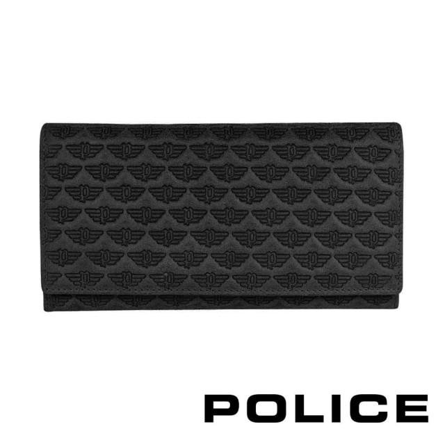 【POLICE】限量1折 義大利潮牌 頂級小牛皮鈕扣翻蓋長夾 全新專櫃展示品(艾爾頓系列)