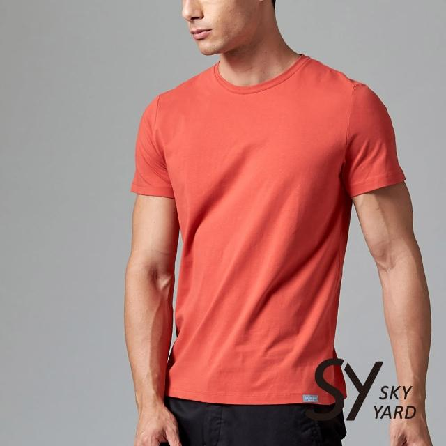 【SKY YARD】舒適柔棉素面短袖圓領T恤(紅色)