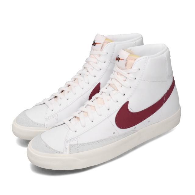【NIKE 耐吉】休閒鞋 Blazer MID 77 高筒 男鞋 經典款 VNTG 復古 簡約 球鞋 穿搭 白 紅(BQ6806-102)