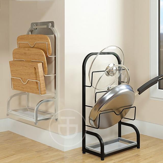 【TD 樂活】廚房壁掛台面兩用不鏽鋼多功能鍋蓋架 砧板架