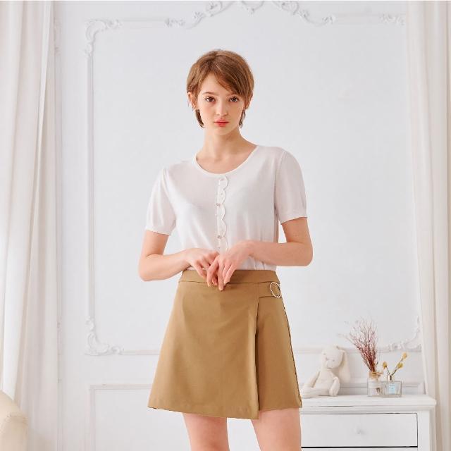 【KiKi】花瓣縫珠門襟-女長袖針織衫 縫珠 藍 白 黃(三色/魅力商品/版型合身)