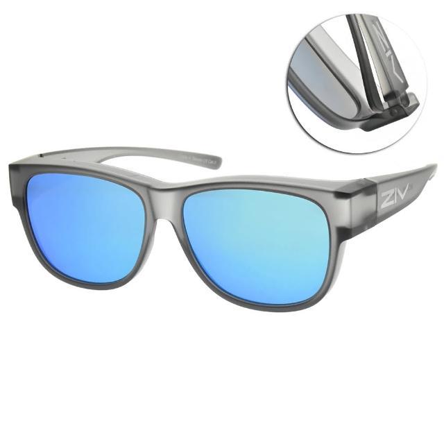 【ZIV】水銀偏光運動眼鏡(霧透灰-寶麗來灰電藍白REVO鏡片#S114 040)