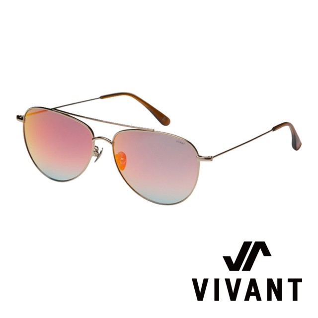 【VIVANT】韓國 率性飛行員框 太陽眼鏡(金 - voller GLD)