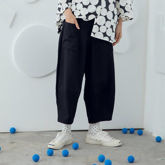 【MOSS CLUB】舒適休閒素面-女長褲 素色 黑 卡 灰(三色/版型適中)