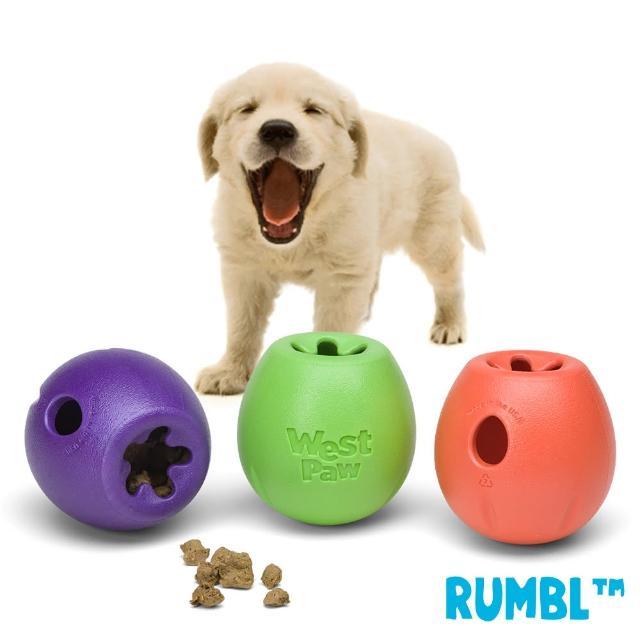【West Paw】Rumbl 漏食球-小(一年保固-適中小型犬-)