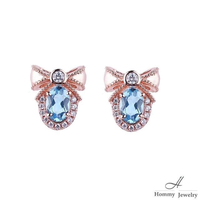 【幸福珠寶】『沙的永恆』 5A頂級天然托帕石聖誕蝴蝶結設計款耳環